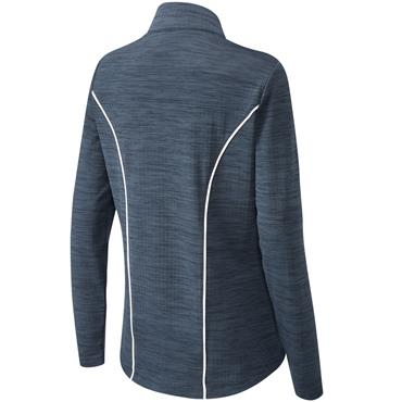Ping Ladies Skye 1/2 Zip Top Oxford Blue Marl - White