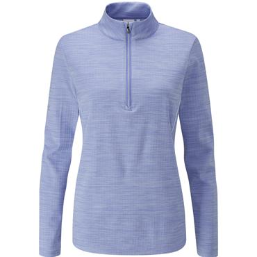 Ping Ladies Skye 1/2 Zip Top Dark Grapemist - White