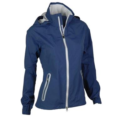 Zero Restriction Ladies Olivia Hooded Waterproof Jacket Storm - White