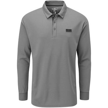Stuburt Gents Active Long Sleeve Polo Shirt Dark Grey