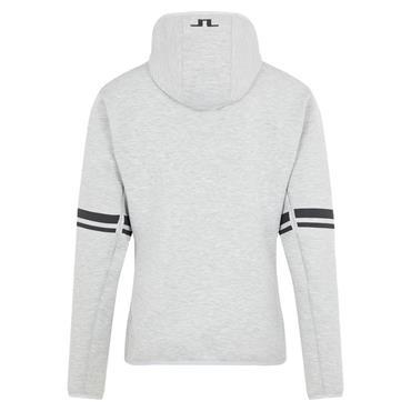 J.Lindeberg Gents Logo Hood Top Grey Melange