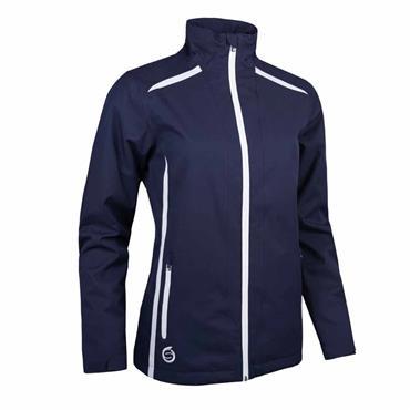 Sunderland Killy Ladies Waterproof Jacket Navy - White