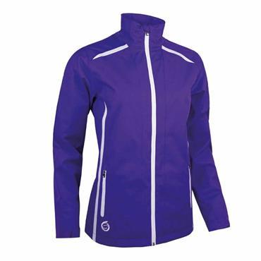 Sunderland Killy Ladies Waterproof Jacket Purple - White