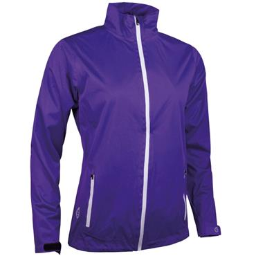 Sunderland Ladies Tech-Lite Waterproof Jacket Purple - White