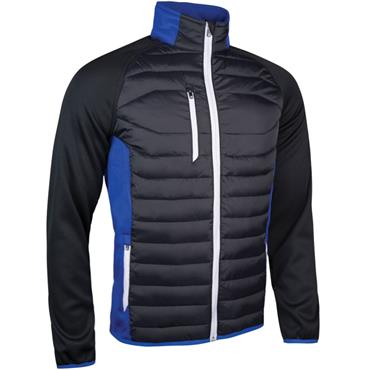 Sunderland Gents Zermatt Padded Jacket Black  Electric Blue - White
