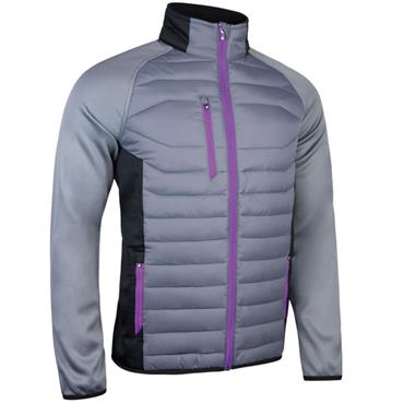 Sunderland Gents Zermatt Padded Jacket Gunmetal Black - Ultra Violet