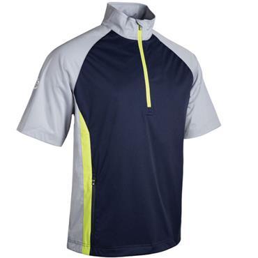 Sunderland Gents Himalayas 1/2 Sleeve Windshirt Navy - Silver - Citrus