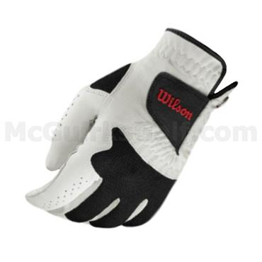 Wilson Gents Advantage Leather Golf Glove 2 Pack White