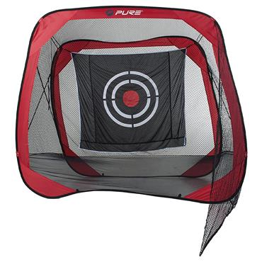 Pure 2 Improve Pop Up Square Practice Net 2.20 x 2.20  Red/Black