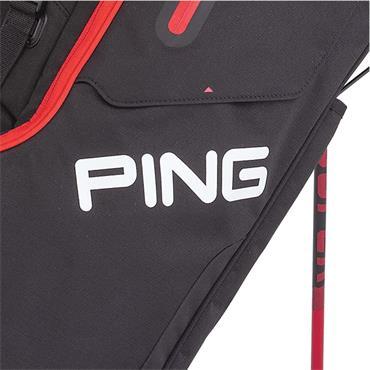 Ping Hoofer 201 Carry Bag  Black Scarlet
