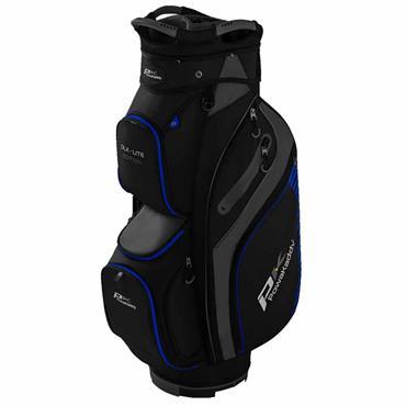 Powakaddy DLX Lite Edition Cart Bag  Black Titanium Blue