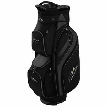 Powakaddy DLX Lite Edition Cart Bag  Black/Titanium/Silver