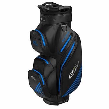 Powakaddy Dri-Tech Cart Bag  Black/Gunmetal/Blue