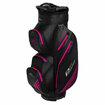 Powakaddy Dri-Tech Cart Bag  Black/Gunmetal/Pink