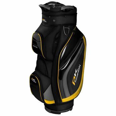 Powakaddy Premium Edition Cart Bag  Black Gunmetal Yellow