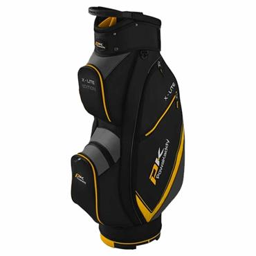 Powakaddy X-Lite Cart Bag  Black Yellow Titanium