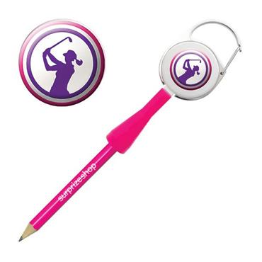 Surprizeshop Lady Golfer Retractable Pencil  Purple