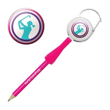 Surprizeshop Lady Golfer Retractable Pencil  Multicolour