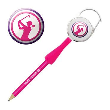 Surprizeshop Lady Golfer Retractable Pencil  Pink