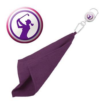 Surprizeshop Lady Golfer Retractable Towel  Purple