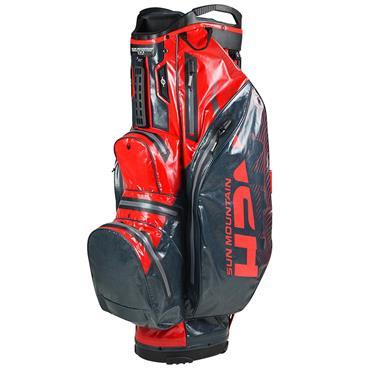 Sun Mountain H2NO Lite Cart Bag  Gunmetal Red