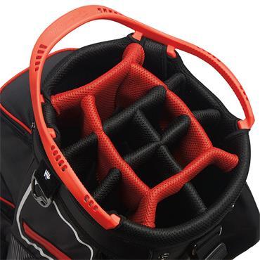 TaylorMade Cart 8.0 Bag  Black White Red