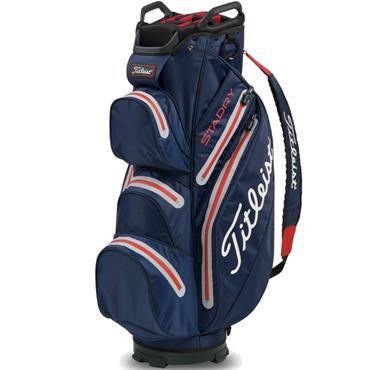 Titleist StaDry Cart Bag 0S Navy/Sleet/Red