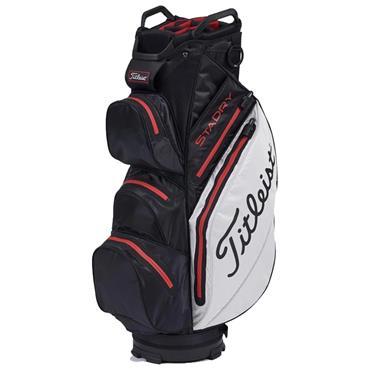 Titleist StaDry Cart Bag 0S Black White Red