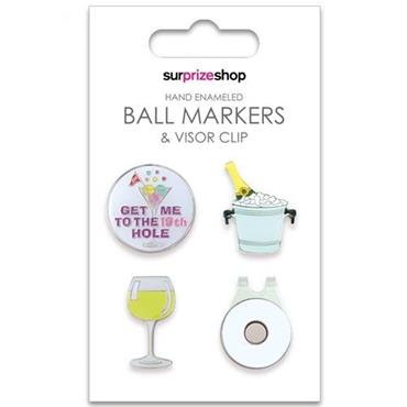 Surprizeshop Ball Marker & Visor Clip Set  Boozy Ball
