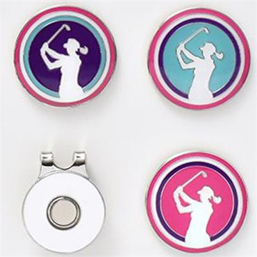 Surprizeshop Visor Clip Set Lady Golfer  .