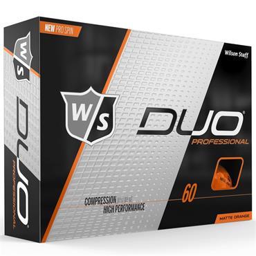 Wilson Duo Pro Golf Balls Dozen  Orange