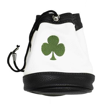 Shamrock Faux Leather Valuables Pouch  White