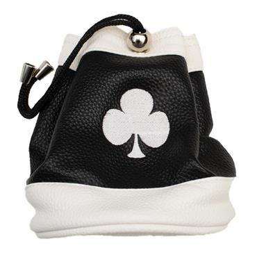 Shamrock Faux Leather Valuables Pouch  Black