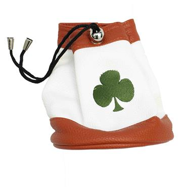 Shamrock Faux Leather Valuables Pouch  Red