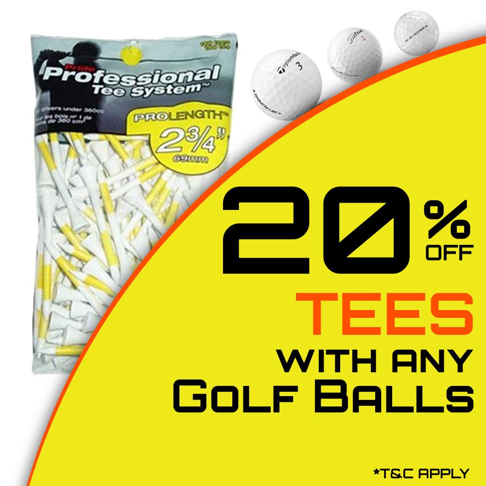 20% Off Golf Tees