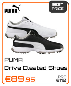 Puma Gents Drive Cleated Classic Shoes Black or White
