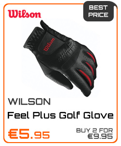 Wilson Gents Feel Plus Golf Glove Left Hand Black
