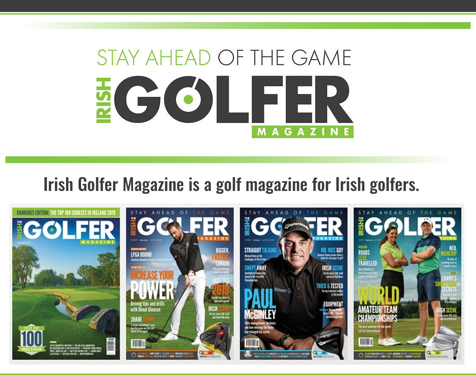 Irish Golfer Magazine