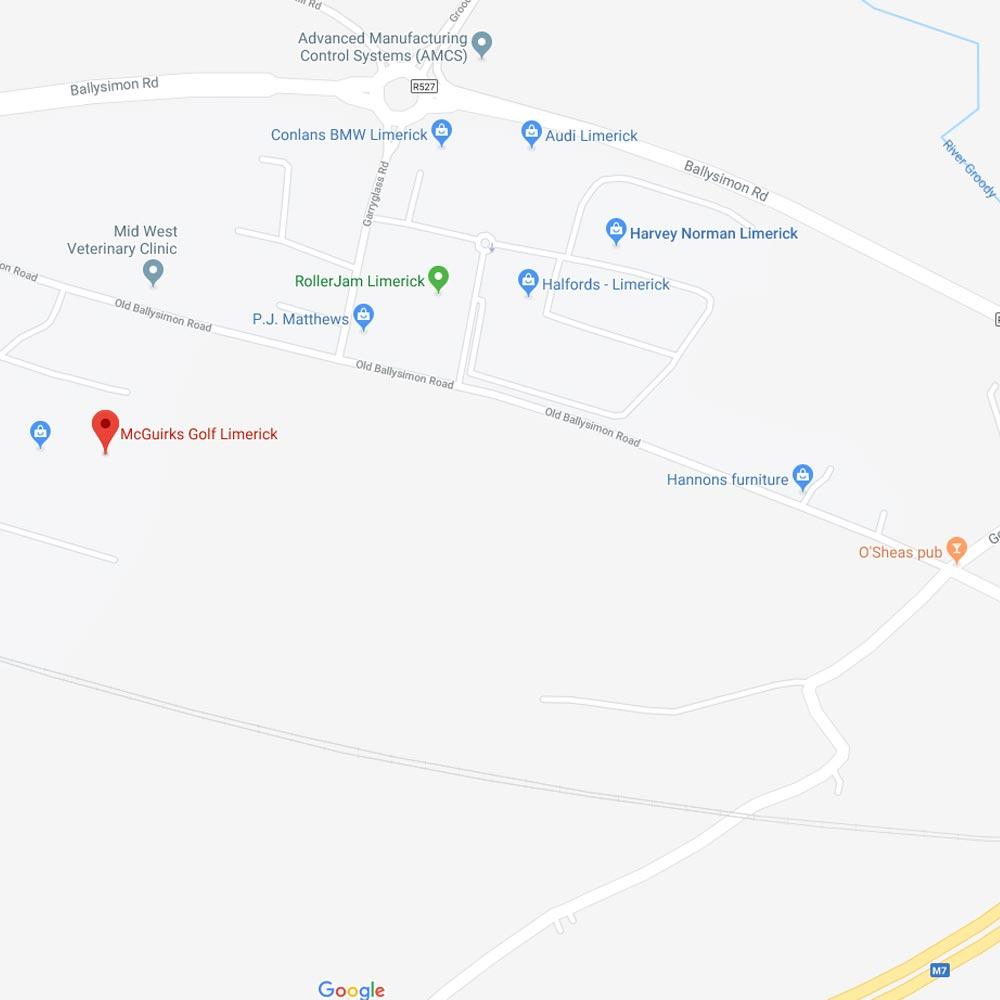McGuirks Golf Limerick location map