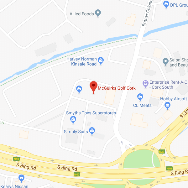 McGuirks Golf Cork location map