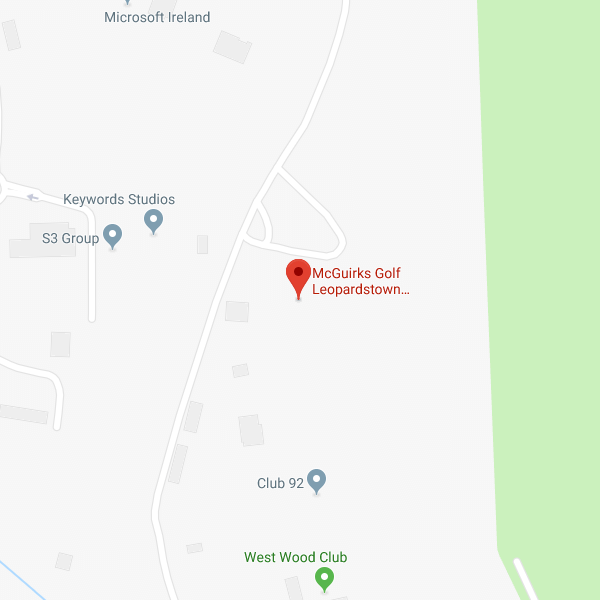 McGuirks Golf Leopardstown location map