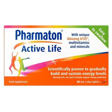 Pharmaton Active Life with  Ginseng G115 Multivitamins & Minerals 30 Caplets