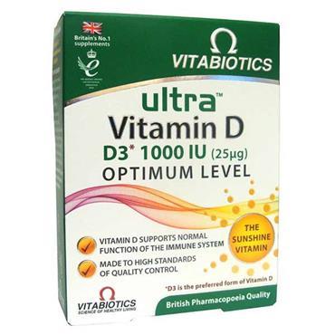 Vitabiotics Ultra Vitamin D3 1000IU Optimum Level 96 Pack