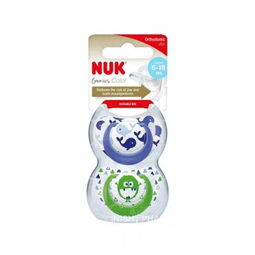 NUK Happy Days Silicone Soother Twin Pack Size 2 6-18m