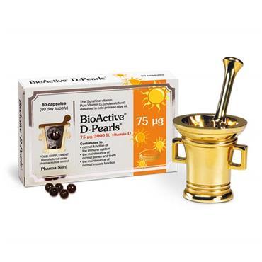 Pharma Nord BioActive D-Pearls 75mcg 3000iu Vitamin D 80 Pack