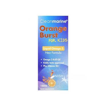 Cleanmarine Krill Oil for Kids Orange Burst 150ml