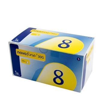 Novofine 30G 8mm Needles 100 Pack