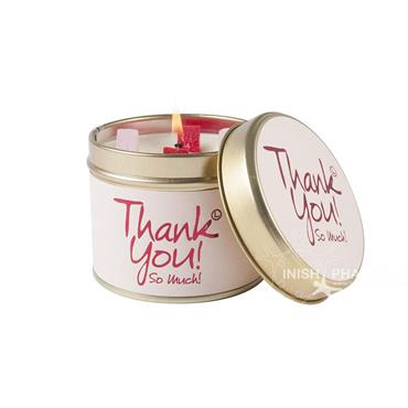 Lily Flame Candle In A Tin Thank You