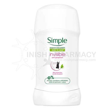 Simple Kind To Skin Invisible Anti-Perspirant Stick 40ml