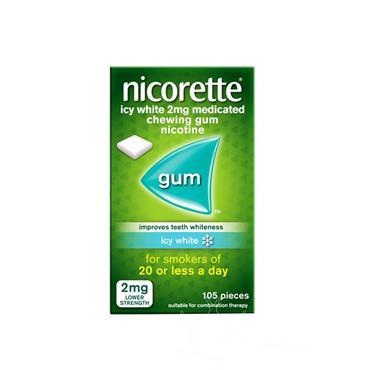 Nicorette Icy White 2mg Sugar Free Gum 105 Pack